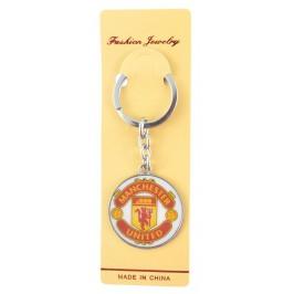 Сувенирен метален ключодържател - емблема на футболен клуб - Manchester UTD