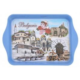 Сувенирна метална табла с изобразени забележителности от Балчик, Варна, Несебър и Велико Търново