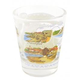 Сувенирна чаша за шот - забележителности от Албена, Балчик, Варна, Златни пясъци, Несебър, Слънчев бряг и Созопол