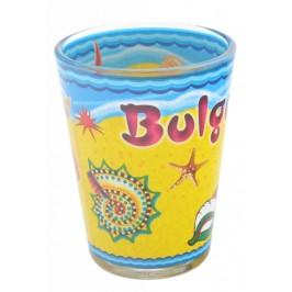 Сувенирна чаша за шот, декорирана с морски мотиви