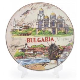 Сувенирна чинийка с лазерна графика - забележителности от Балчик, Варна и Несебър