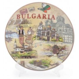 Сувенирна чинийка с лазерна графика - забележителности от Българското черноморие