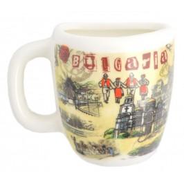 Сувенирна чаша с магнит, декорирана със забележителности от Българското черноморие
