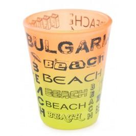 Сувенирна чаша за шот, декорирана с надписи - Beach