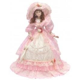 Сувенирна кукла , изработена от керамика и текстил