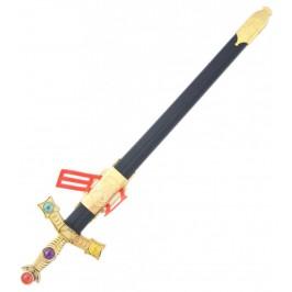Парти артикул - рицарски меч, декориран с цветни камъни