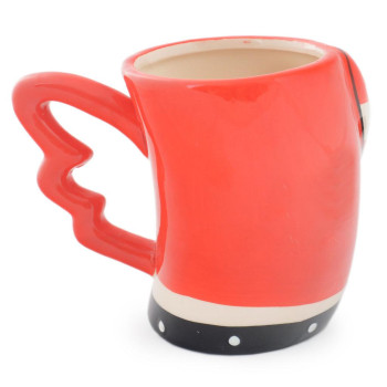 Красива керамична чаша с нестандартна дръжка и надпис - LOVE YOU