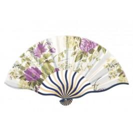 Сувенирно красиво ветрило от дърво и текстил с цветен принт - флорани мотиви
