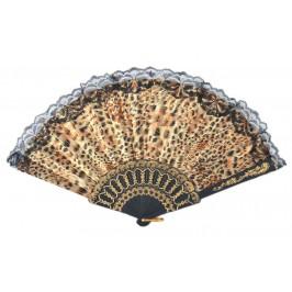 Сувенирно ветрило от PVC материал и текстил с цветен принт - леопардови мотиви