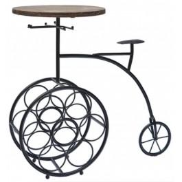 Декоративна поставка за бутилки вино - ретро колело