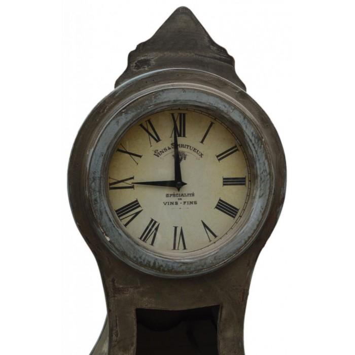 Декоративна поставка за вино - фар с часовник