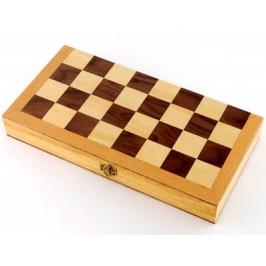 Комплект шах и табла в красива дървена кутия с размери - 45х45 см