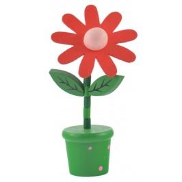 Сувенир от дърво - цвете в саксия