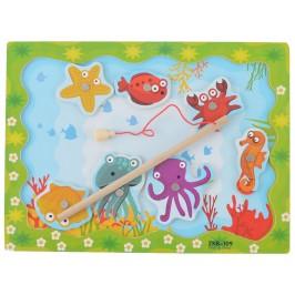 Забавна игра - улови животното с магнитна въдичка