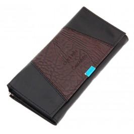 Елегантен дамски портфейл от щампована еко кожа с елегантна закопчалка