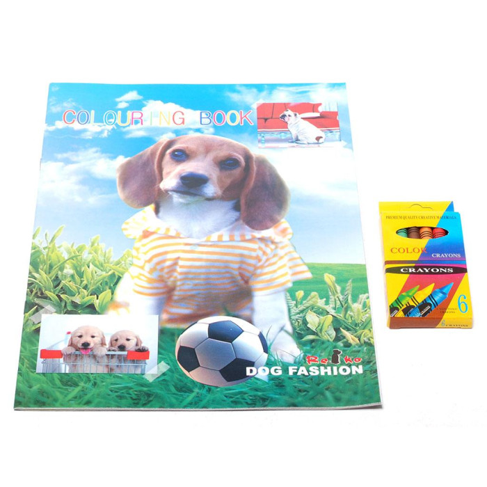 Комплект за рисуване, включващ книжка за оцветяване 28х21см и цветни пастели