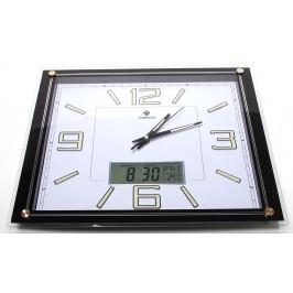 Красив стенен часовник с електронен дисплей за дата и температура