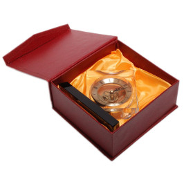 Елегантен настолен часовник от стъкло, подходящ за офиса или дома