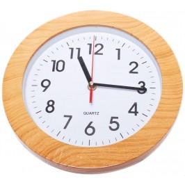 Стенен часовник, имитация на дърво - диаметър 26