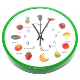 Стенен часовник, декориран с плодови картинки