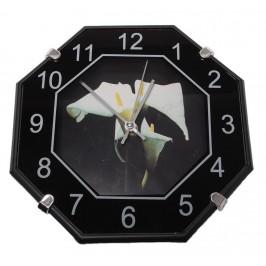 Елегантен стенен часовник с флорални мотиви