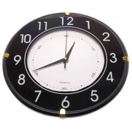 Красив стенен часовник в бяло и черно с арабски цифри