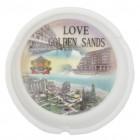 Сувенирен керамичен пепелник с лазерна графика - забележителности от Златни пясъци