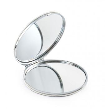 Сувенирно джобно огледало със закопчалка, декорирано с изгледи от Слънчев бряг