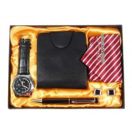 Подаръчен комплект от портфейл, вратовръзка, 2бр