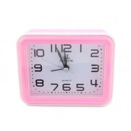Настолен часовник - будилник с цветна рамка, изработен от PVC материал