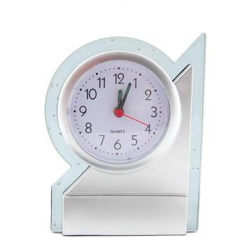 Настолен часовник - будилник с прозрачен кант, изработен от PVC материал