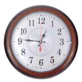 Стилен стенен часовник, изработен от PVC материал - имитация на дърво