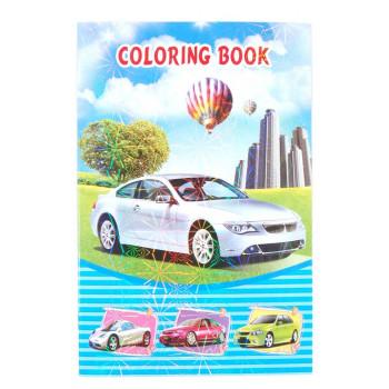 Книжка с 8 страници за оцветяване и 2 страници тематични самозалепващи се стикери