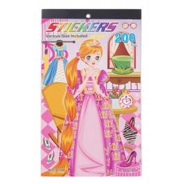 Книжка със стикери - момиче, сменящо рокли