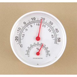Малък стаен термометър с влагометър - кръгъл