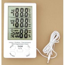 Дигитален термометър с влагометър с външен сензор