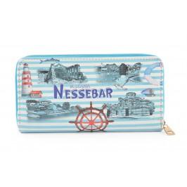 Цветно портмоне от изкуствена кожа с удобна дръжка за китката - Несебър