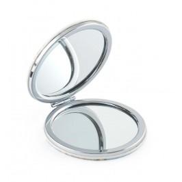 Сувенирно джобно огледало без закопчалка, декорирано с изгледи от Приморско