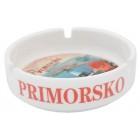 Сувенирен керамичен пепелник с лазерна графика - изгледи от Приморско