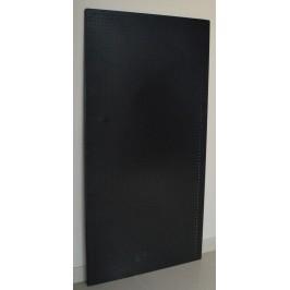 Перфориран метален стелаж - черен