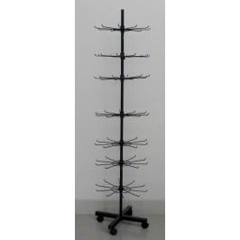 Стелаж метал тип въртележка на седем етажа - черен