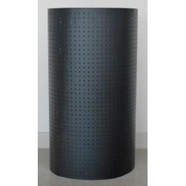 Перфориран черен метален стелаж