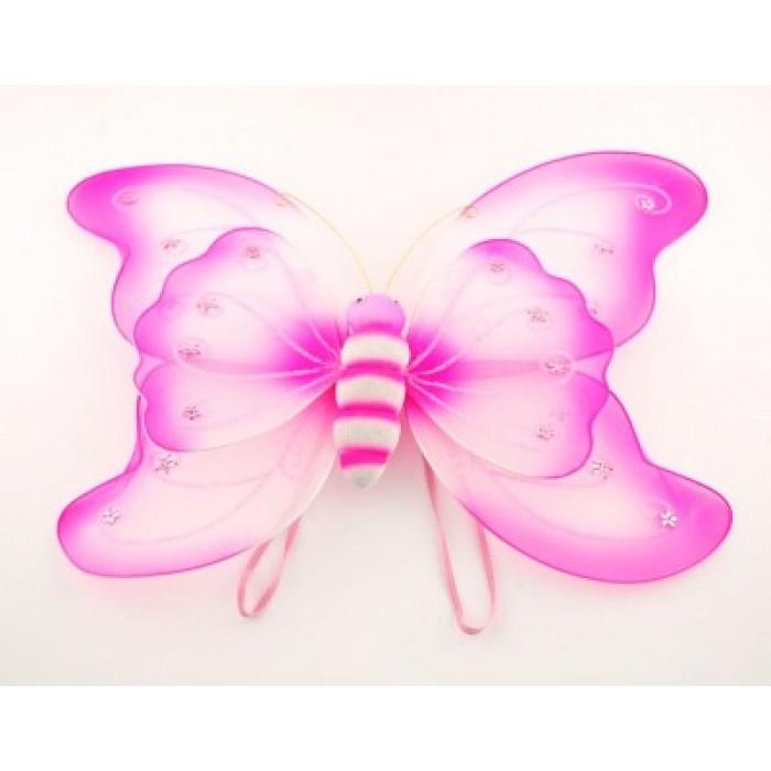 Декоративни пеперудени крилца с ластици за закачане на гърб