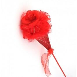 Декоративна роза брокат и дантела - 45см