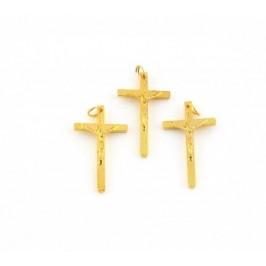 Материали за бижутерия - метален кръст жълт