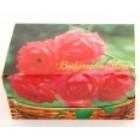 Комплект от 14 броя тематични фолклорни картички с фиолки розова есенция и традиционна дървена бъклица