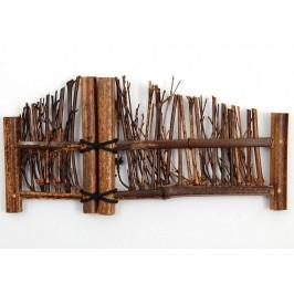 Красива декоративна ограда, изработена от бамбук и дърво