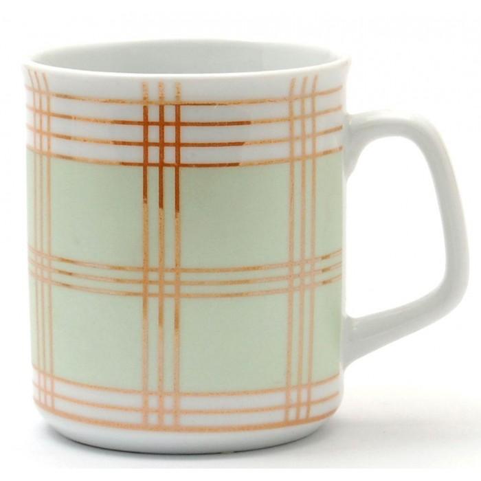 Порцеланова чаша за топли напитки с лъскави нишки