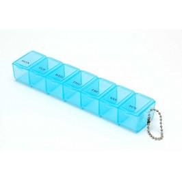 Кутия за хапчета със седем отделения за дните от седмицата, изработена от PVC материал