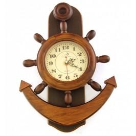 Сувенирен стенен часовник - котва - 33см